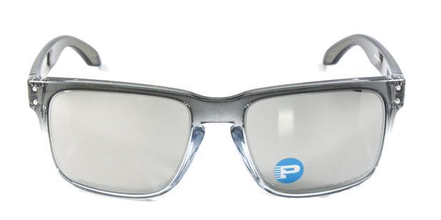 0ed039511b36b Óculos de Sol Oakley Holbrook OO9102 Cinza Transparente Lentes Espelhadas e  Polarizadas