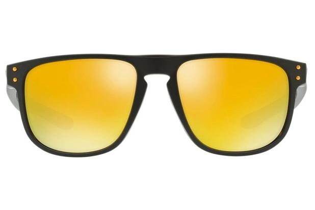 Óculos de Sol Oakley Holbrook R 0OO9377 05 55 Preto Fosco Lente Amarelo  Espelhado 66005dfd03