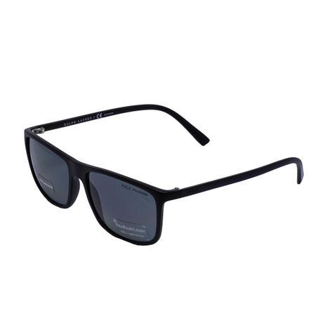 1eba52e24289f Óculos de Sol Polo Ralph Lauren Polarizado PH4115 560881 - Acetato Preto e Lente  Cinza