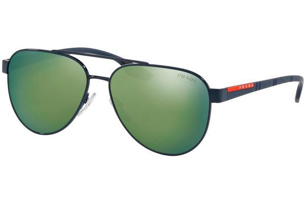 90186ae1b Óculos de Sol Prada Linea Rossa PS 54TS 7AN213/58 Azul - Óculos de ...