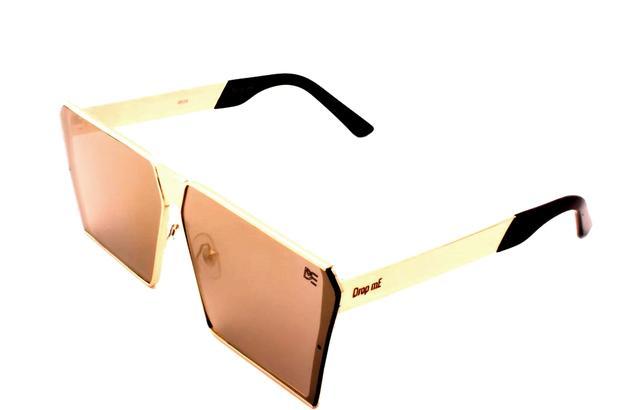 b131e2abc Óculos de Sol Quadrado Drop mE Impact Espelhado Dourado - Drop me acessorios