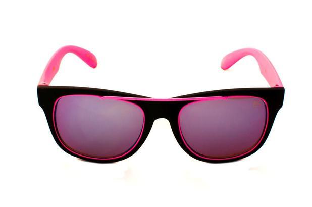 d86d6b9fbaa36 Oculos de sol quadrado drop me neon rosa lente espelhada azul claro - Drop  me acessorios