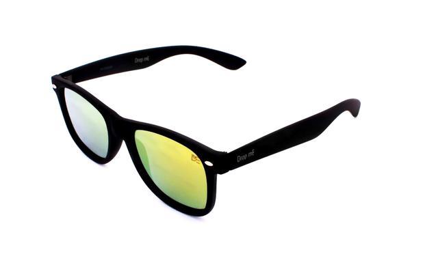 cffd1a7c7aee1 Oculos de sol quadrado drop me outdoor lente flat espelhada amarela - Drop  me acessorios