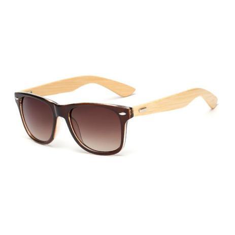703cc3a53 Óculos de Sol Quadrado Hastes em Madeira Bambu Marrom - Ilook - - -  Magazine Luiza