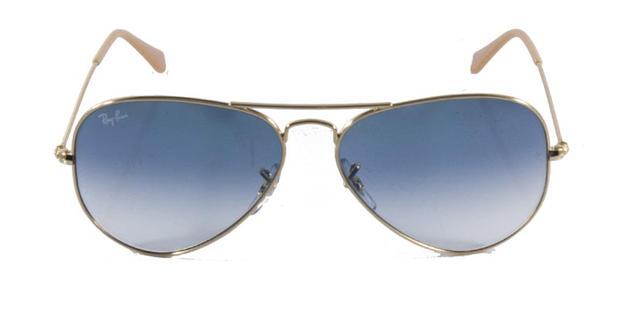 ed5ed6bfb5ab5 Óculos de Sol Ray Ban Aviador Clássico RB3025 Ouro Lente Azul Degradê -  Ray-ban