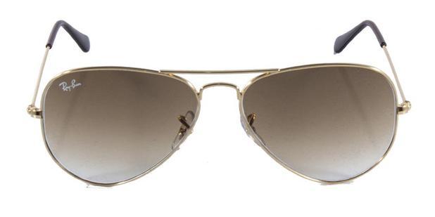 bcf5c9a46 Óculos de Sol Ray Ban Aviador Clássico RB3025 Ouro Lente Marrom lente 62 -  Ray-ban