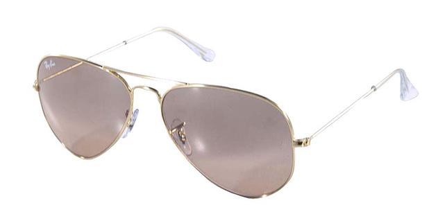 658630e65f542 Óculos de Sol Ray Ban Aviador Clássico RB3025 Ouro Lente Marrom Rosa - Ray- ban