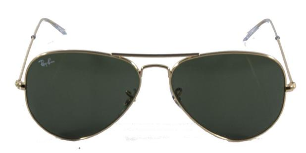 c815117034860 Óculos de Sol Ray Ban Aviador Clássico RB3025 Ouro Lente Verde ...