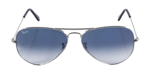 83dbcb05d9c4c Óculos de Sol Ray Ban Aviador Clássico RB3025 Prata Lente Azul Degradê -  Ray-ban