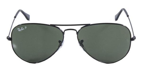 3905c58e1316f Óculos de Sol Ray Ban Aviador Clássico RB3025 Preto Lente G15 Polarizado  Tam. 55 - Ray-ban