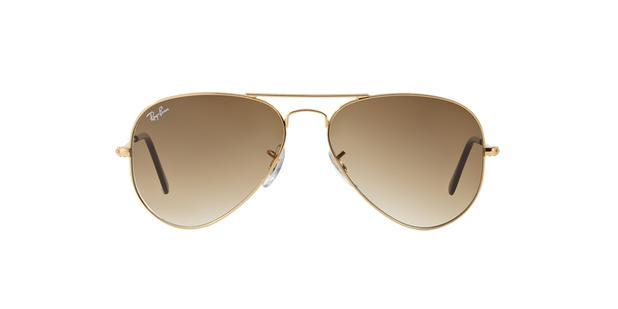 06f18ce0f3f2f Óculos de Sol Ray Ban Aviador Clássico RB3025L 00151 Ouro Lente Marrom  Degradê Tam 55 - Ray-ban