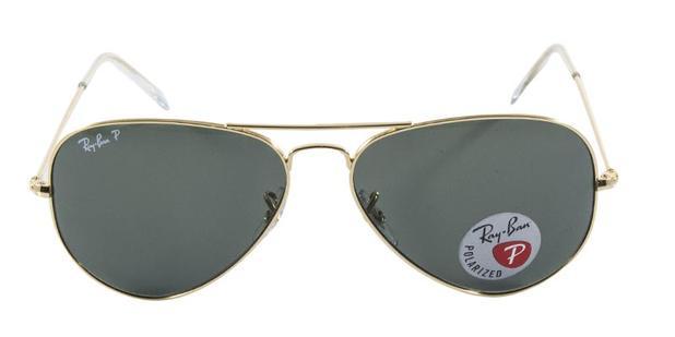 af58b5535be3b Óculos de Sol Ray Ban Aviador Clássico RB3025L 00158 Ouro Lente Verde G15  Polarizada Tam 58 - Ray-ban