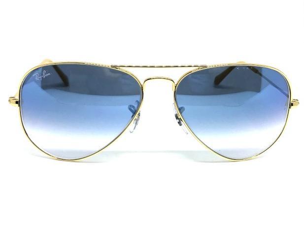 1f581153a Oculos de sol Ray Ban Aviador médio RB 3025 001 3F 58 - - - Magazine ...