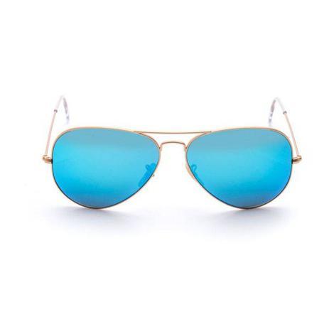 7ccbaf470 Óculos De Sol Ray-Ban Aviador Modelo Rb3025 112/17 Tamanho 58 Lente Azul -  Ray ban