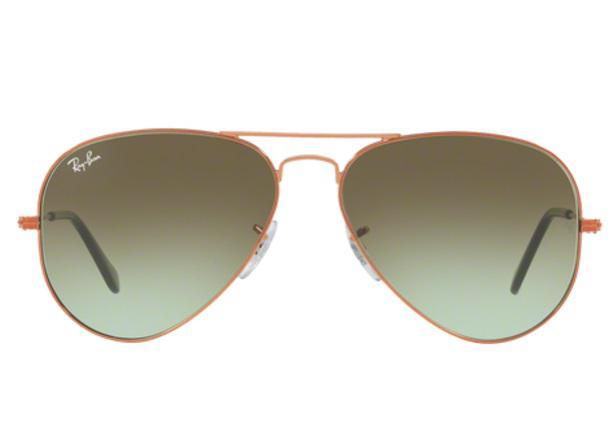 dc9e91dc6 uk imagem de Óculos de sol ray ban aviador rb3025 9002a6 bronze lente verde degradé  tam