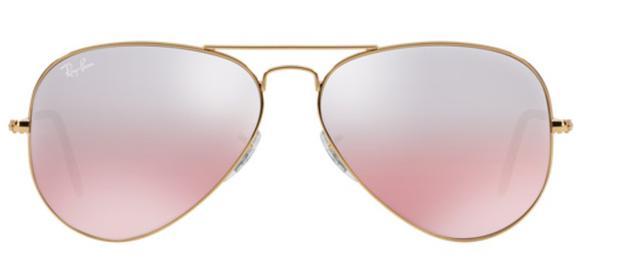 2e53e187e Óculos de Sol Ray Ban Aviador Rb3025 Ouro Lente Marrom Rosa Tam 55 - Ray-ban