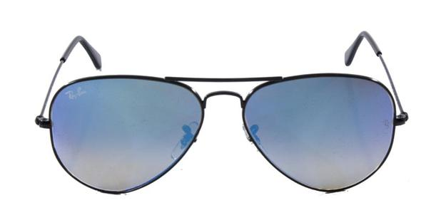 10cb5395fa86b Óculos de Sol Ray Ban Aviador RB3025 Preto Lente Azul Degradê Espelhada Tam  58 - Ray-ban