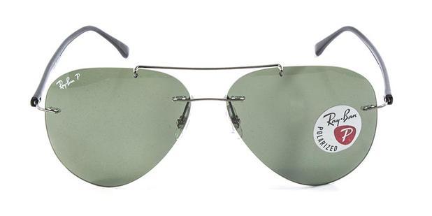 d853a43fa043d Óculos de Sol Ray Ban Aviador RB8058 Prata Lente G15 Polarizado - Ray-ban