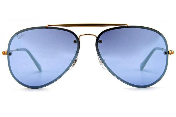 a0e6740fb Óculos de Sol Ray Ban Blaze Aviador RB3584N 90531U/61 Cobre/Azul ...