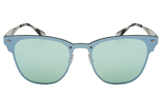 Óculos de Sol Ray Ban Blaze ClubMaster RB3576N 042-30 47 Prata - Lente  Verde Espelhado edc4756a8c