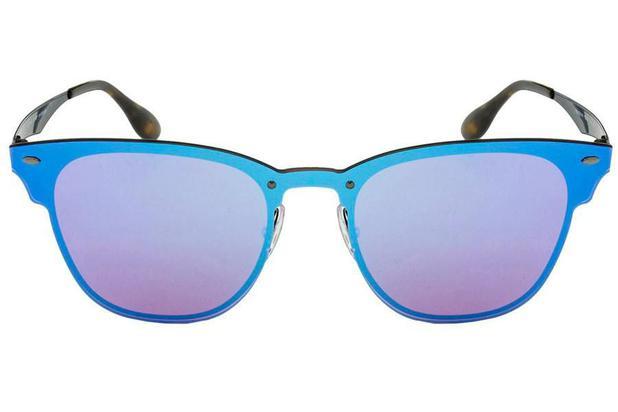 aac9503e5 Óculos de Sol Ray Ban Blaze Clubmaster RB3576N 153 7V/41 Preto Espelhado  Azul