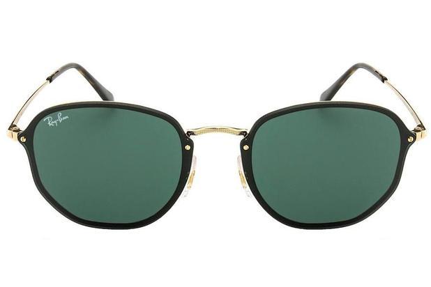 0e7139f5f347f Óculos de Sol Ray Ban Blaze Hexagonal RB3579N 001 71 58 Dourado com Preto