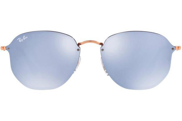 26bb9d476bd1a Óculos de Sol Ray Ban Blaze Hexagonal RB3579N 90351U 58 Cobre ...