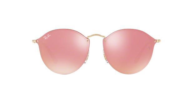 Óculos De Sol Ray Ban Blaze Round RB3574N 001E4 Ouro Lente Espelhada Rosa -  Ray-ban 0a0d577093