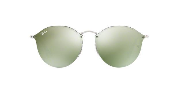 Óculos De Sol Ray Ban Blaze Round RB3574N 00330 Prata Lente Espelhada Verde  Prata - Ray-ban 221f330bb2