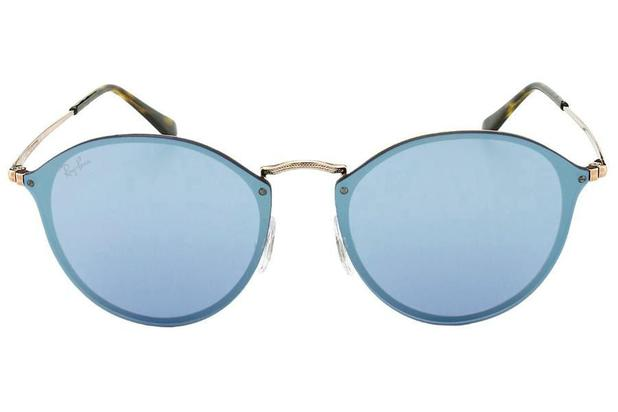1d3ae77336 Óculos de Sol Ray Ban Blaze Round RB3574N 90351U 59 Bronze Espelhado Violeta