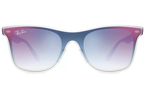 7ac6c3374 Óculos de Sol Ray Ban Blaze Wayfarer RB4440N 6356X0/41 Transparente Fosco