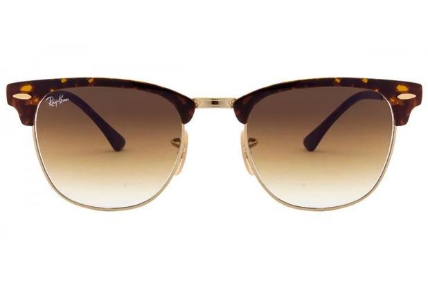 d8def09579 Óculos de Sol Ray Ban Clubemaster Metal RB3716 900851 51 Dourado Tartaruga