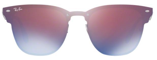 13f0ae4e0f4c6 Óculos De Sol Ray Ban Clubmaster Blaze RB3576 Preto Lentes Violeta Azul  Espelhado - Ray-ban