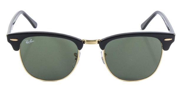 bb02c35416cae Óculos de Sol Ray Ban Clubmaster RB3016 Preto Ouro Lente Tam 51 - Ray-ban