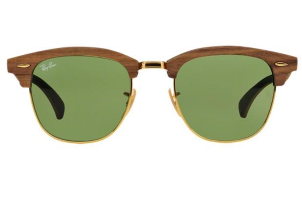 Óculos De Sol Ray Ban Clubmaster Wood RB3016M 11824E Madeira Lente Verde  Tam 51 - Ray-ban 85bfcf0149