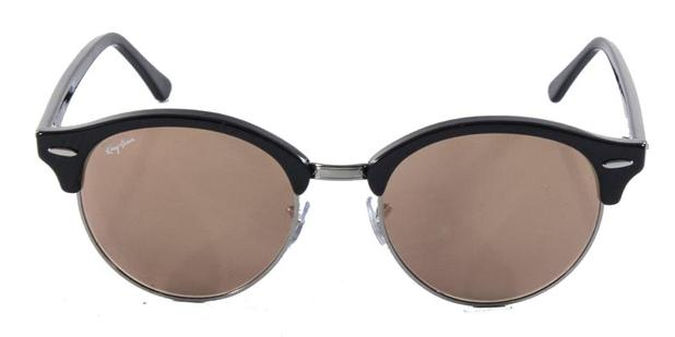 90d716045fefc Óculos de Sol Ray Ban CLUBROUND RB4246 Preto Lente Rosa Espelhada - Ray-ban