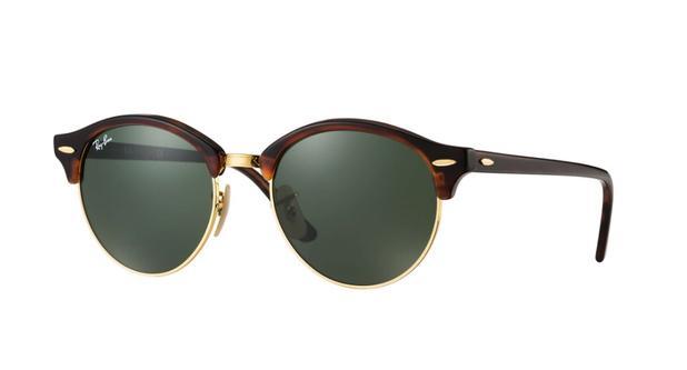 f1fd209b07a5c Óculos de Sol Ray Ban CLUBROUND RB4246 Tartaruga Lente Verde Clássica G-15  - Ray-ban