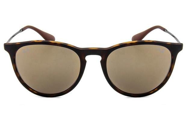 a77b05bbd2935 Óculos de Sol Ray Ban Erika L RB4171L 865 5A 54 Tartaruga Espelhado Marrom