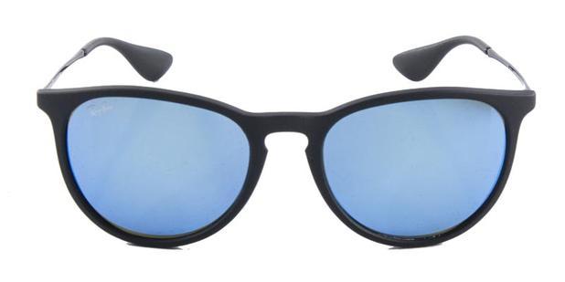 242c613ef406e Óculos De Sol Ray Ban Erika RB4171 Preto Lente Azul Espelhada - Ray ...