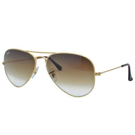 5a41347a22e13 Óculos de Sol Ray Ban Feminino Aviador RB3025L C001 51 - Metal Dourado,  Lente Marrom Degradê