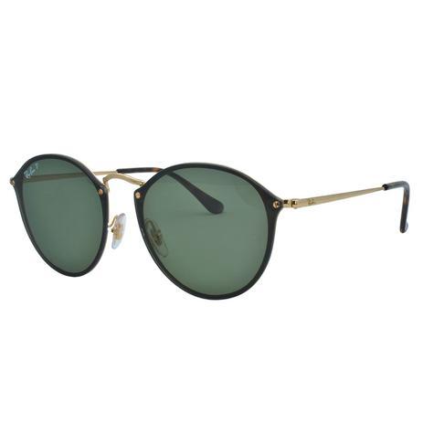 cee628dcf Óculos de Sol Ray Ban Feminino Blaze Round Polarizado RB3574N 001/9A - Metal