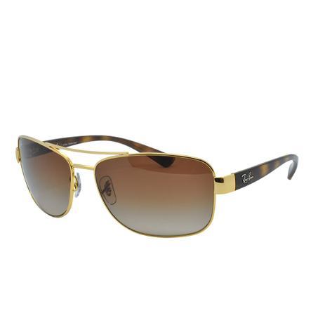 f39d984ee Óculos de Sol Ray Ban Feminino RB3518L 001/13 - Metal Dourado e Lente  Marrom Degradê