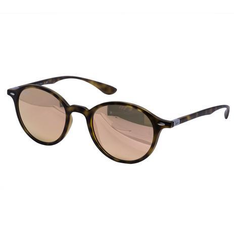 523b92029 Óculos de Sol Ray Ban Havana Mate - Acetato Tartaruga, Lente Espelhada Rosé