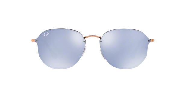 4dc7e601d Óculos De Sol Ray Ban Hexagonal Blaze RB3579 Cobre Lentes Violeta Prata  Espelhada - Ray-ban