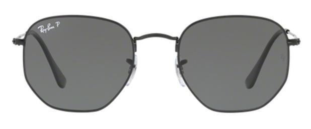 9d5e2f5715829 Óculos de Sol Ray Ban Hexagonal Metal RB3548 Preto Lente Verde Flat  Polarizada 51 - Ray-ban