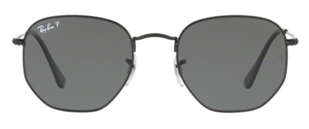 c538327517ed4 Óculos de Sol Ray Ban Hexagonal Metal RB3548 Preto Lente Verde Flat  Polarizada 54 - Ray-ban