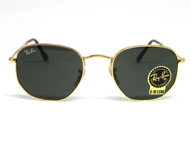 90fe9480226d8 Oculos de sol Ray Ban Hexagonal RB 3548N 001 51 - Óculos de Sol ...