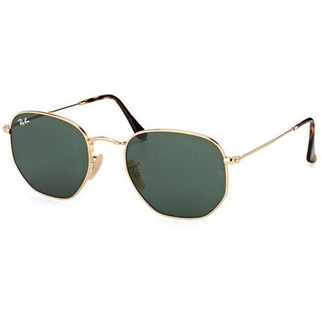 Imagem de Óculos De Sol Ray Ban Hexagonal Rb3548n 001/54 Dourado
