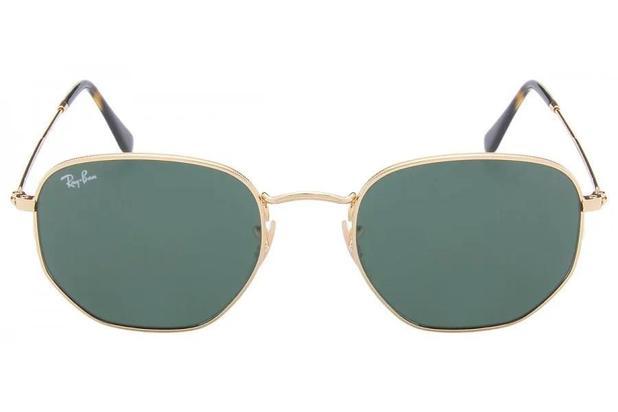 fbacacfadaa4f Óculos de Sol Ray Ban Hexagonal RB3548N 1 54 Dourado - Óculos de sol ...