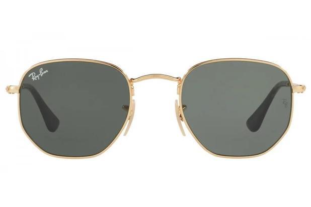503b1e2170 Óculos de Sol Ray Ban Hexagonal RB3548NL 001/51 Dourado ...